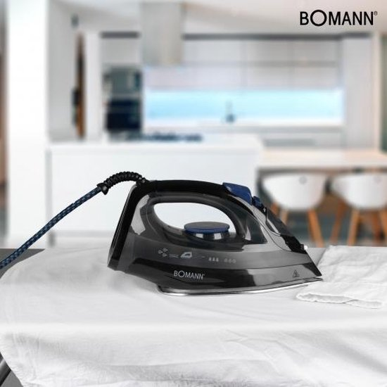 Bomann DB 6003 CB Droog- & stoomstrijkijzer Zwart, Blauw