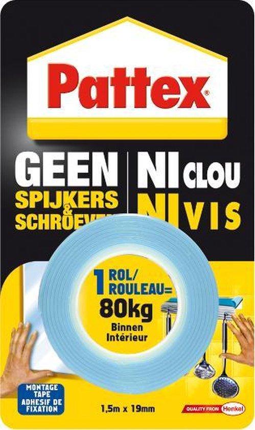 Pattex Montage Tape - 1,5 m x 19 mm - Blauw