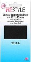 Restyle - Jersey Reparatiedoek Stretch - Strijkbaar -  12 x 45 cm - Zwart
