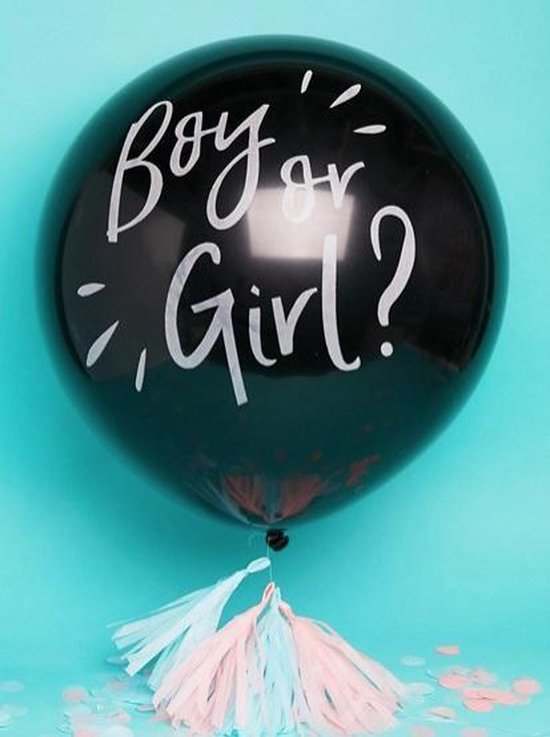 Gender Reveal Ballon confetti Boy or Girl?