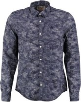 Garcia donkerblauw slim fit overhemd Maat - L