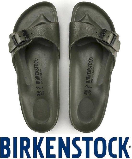 Birkenstock Madrid Dames Slippers Small fit - Khaki - Maat 41 - Birkenstock