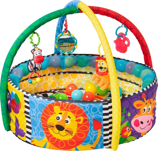 Playgro - Ball Activity Nest - Speelkleed met 5 verschillende opstellingen! - Ballenbak - Speelkleed - Activity Center - PlayGym - Lay & Play