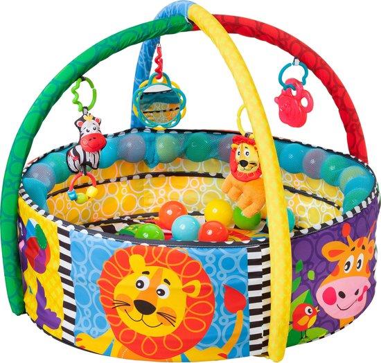 Playgro - Ball Activity Nest - Speelkleed met 5 verschillende opstellingen! - Ballenbak - Speelkleed - Activity Center - PlayGym - Lay & Play