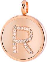 Just.D Daydream - JUST.D Stalen hanger roseplated letter kristal