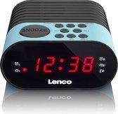 Lenco CR-07 - Wekkerradio met slaaptimer en dubbel alarm - Blauw