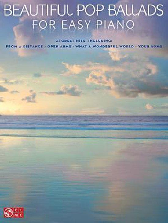 Boek cover Beautiful Pop Ballads For Easy Piano van Hal Leonard Corp. (Paperback)