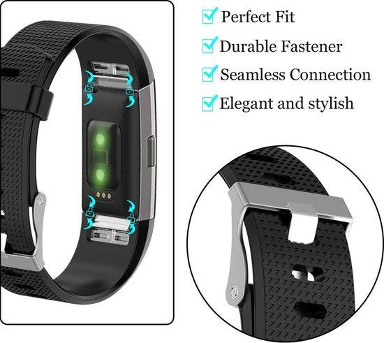 Merkloos Siliconen bandje - Fitbit Charge 2 - Zwart - Small - Merkloos