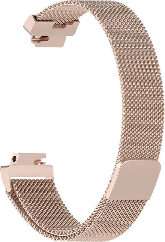 YONO Milanees bandje - Fitbit Inspire (HR) - Champagne - Small