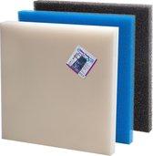 VT filterschuim middel blauw 50x50x5cm