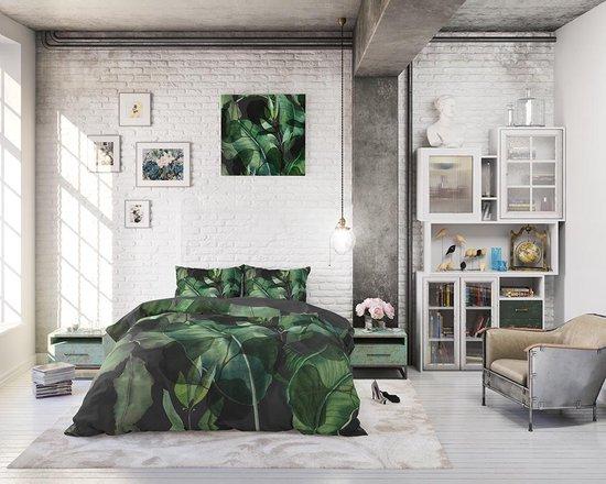 Sleeptime Wild Plants - Dekbedovertrek - Eenpersoons - 140x200/220 + 1 kussensloop 60x70 - Groen