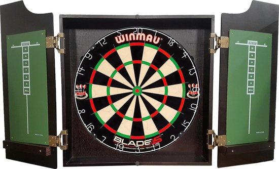 Dragon darts - Pro complete – dartkabinet – inclusief – winmau blade 5 dartboard – inclusief 2 sets spider - dartpijlen