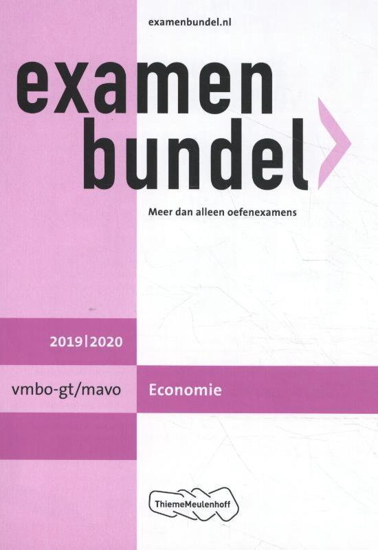 Examenbundel vmbo-gt/mavo Economie 2019/2020 - P.M. Leideritz   Readingchampions.org.uk