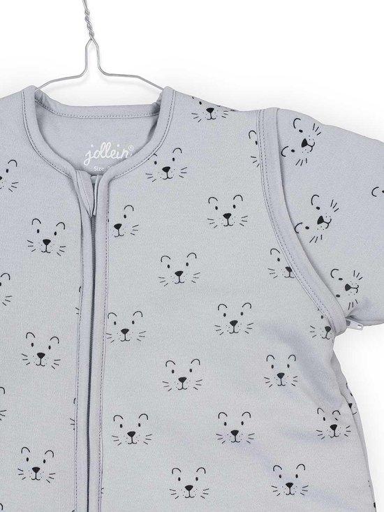 Jollein Little lion Padded Babyslaapzak met afritsbare mouw - 70cm grey
