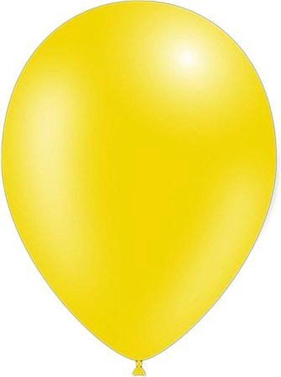 50 stuks - Feestballonnen metallic geel 26 cm professionele kwaliteit