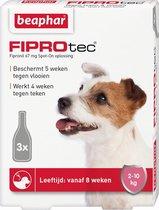Beaphar FiproTec - tegen teken en vlooien - 2-10 kg - 3 pipetten