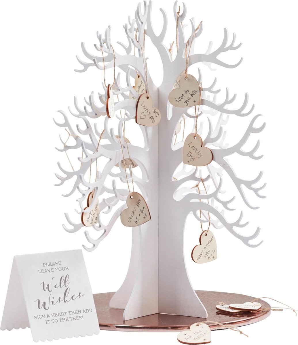Beautiful Botanics - Houten wensboom - alternatief gastenboek Ginger Ray - Ginger ray