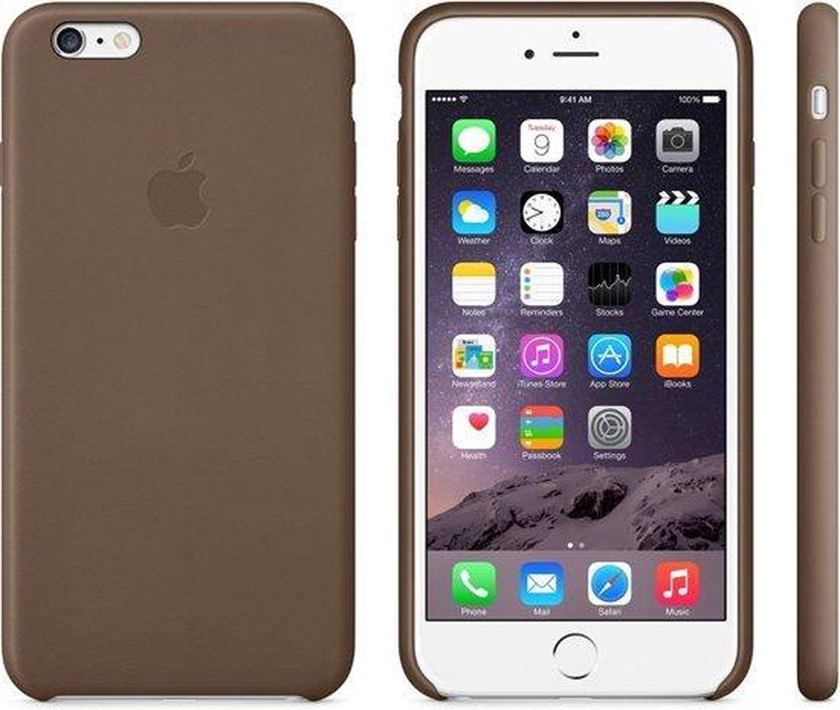 Apple Leren Hoesje voor iPhone 6 Plus/6S Plus - Bruin