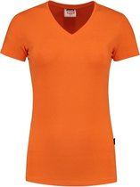 Tricorp T-shirt V Hals Slim Fit Dames 101008 Oranje - Maat M