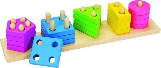 Sorteerspel: KLEUREN en VORMEN 35x7,5x7cm, 20-delig, in doos