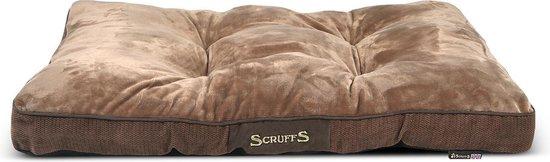 Scruffs - Chester Mattress - Hondenkussen - Chocolate - M - 82 x 58 x 6 cm