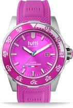 Tutti Milano TM900FU- Horloge -  42.5 mm - Fuchsia - Collectie Corallo