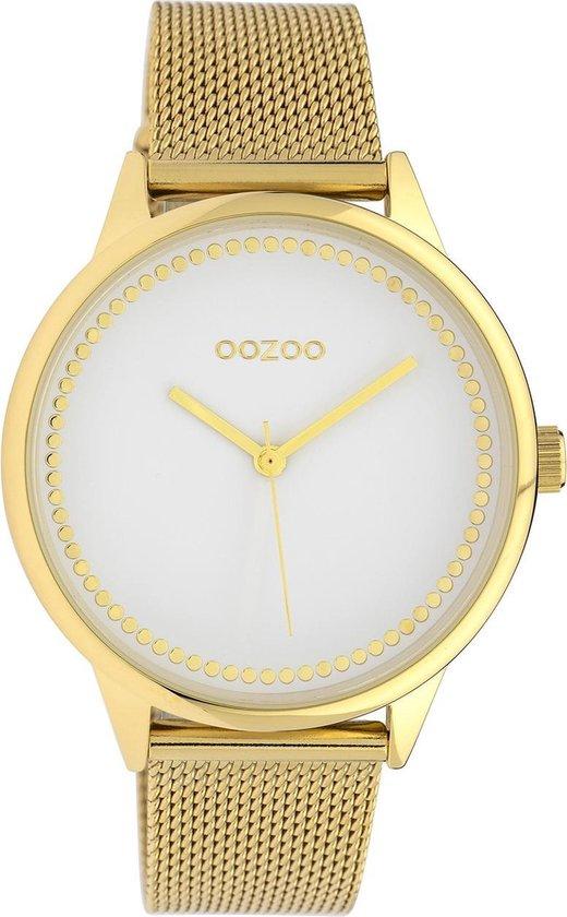 OOZOO Timepieces Goudkleurig/Wit horloge (40 mm) – Goudkleurig