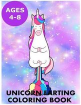 Unicorn Farting Coloring Book for Kids Ages 4-8