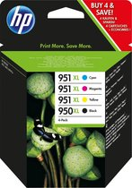 HP 950XL / 951XL - Inktcartridge / Zwart / Cyaan /