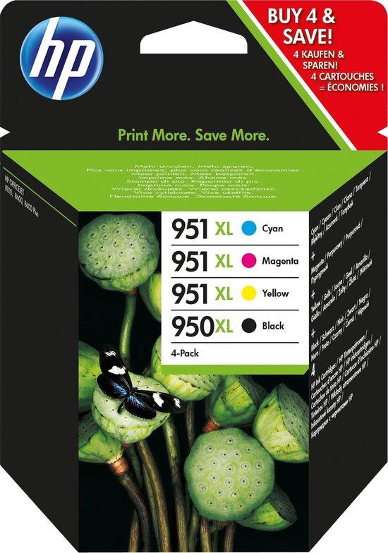 HP 950XL / 951XL - Inktcartridge / Zwart / Cyaan / Magenta / Geel / Hoge Capaciteit / 4-Pack