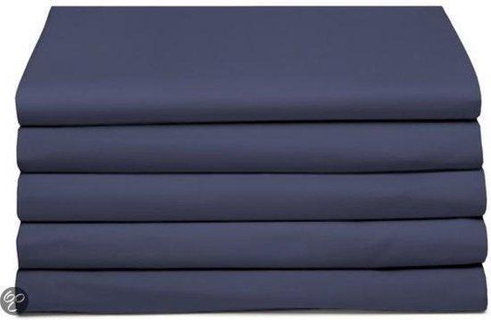 Laken katoen 200 x 260 (48) dark blue Standaard Damai