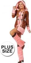 Grote maten roze Eskimo kostuum voor dames 44 (2XL)