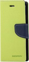Let op type!! MERCURY GOOSPERY FANCY DIARY for iPhone 6 Plus & 6s Plus Cross Texture Horizontal Flip Leather Case with Card Slots & Wallet & Holder(Green)