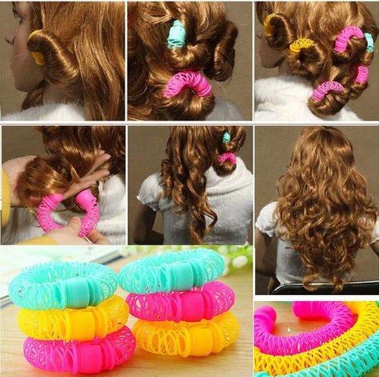 Haarkrulset - Haarrollers / Haarkrullers / Krulspelden Set - Maak de mooiste Krullen - Magic Rollers 8 Stuks - Ardran & Tookar