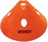 Sportec Afbakenbollen Prof Groot Soft Plastic 10 Stuks Oranje