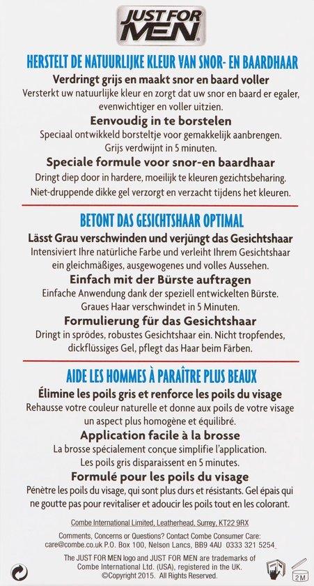 Just For Men Snor en Baard Donkerbruin - Haarkleuring - 14.2gram+14.2gram