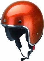 Redbike RB-765 retro jethelm metal flake orange maat M