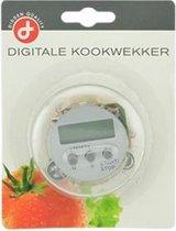 Ronde digitale kookwekker met bevestigingsclip en magneet