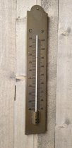 Thermometer staal XL 10 x 60 cm