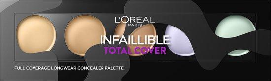 L'Oréal Paris Infallible Total Cover Concealer Palette – 105 Red Fiction