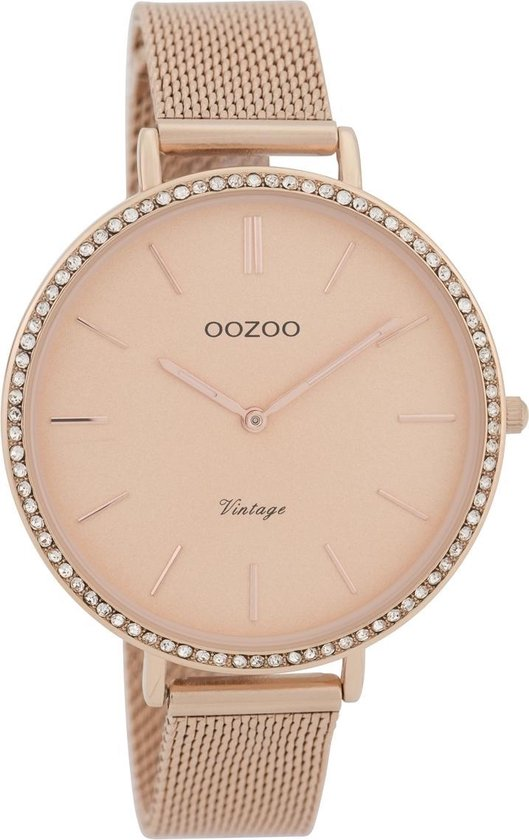 OOZOO Vintage Roségoudkleurig horloge (40 mm) – Goudkleurig