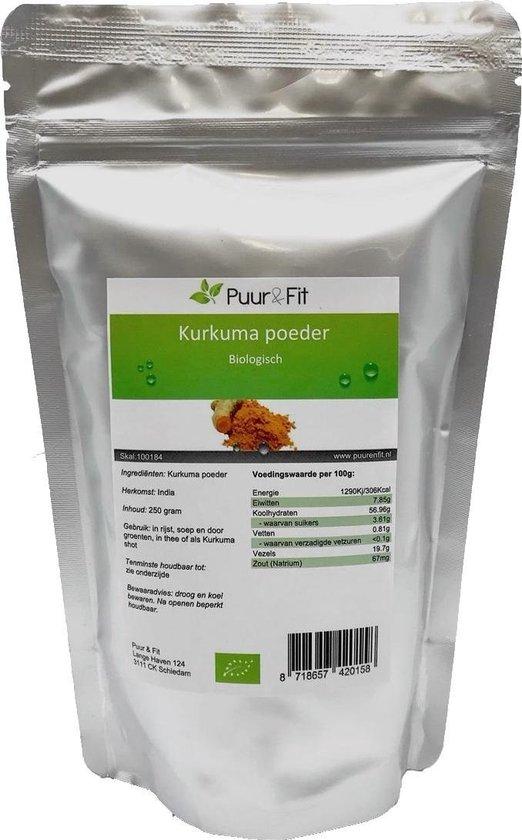 Puur&Fit Biologisch Kurkuma Poeder 250 gram