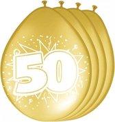 8x stuks jubileum ballonnen 50 jaar