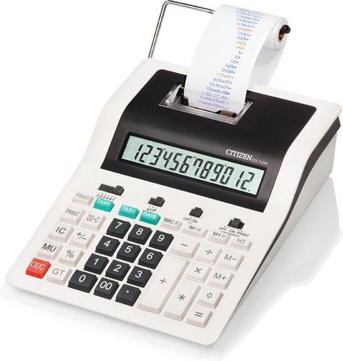 Citizen CX-123N Desktop Rekenmachine met printer Zwart, Wit calculator
