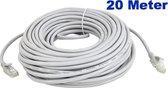 Netwerkkabel 20 meter / LAN Kabel / ISDN DSL STP UTP Kabel / CAT5E RJ45 / Internetkabel