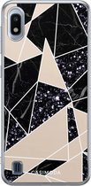 Samsung Galaxy A10 siliconen telefoonhoesje - Abstract painted