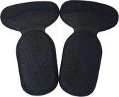 1 paar comfortabele hielbeschermers - inlegzolen voor hoge hakken of schoenen - zwart - one size