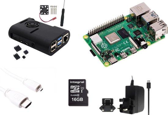 Raspberry Pi 4 - 4Gb - Fan kit - 2019 - Met heatsinks en actieve ventilator