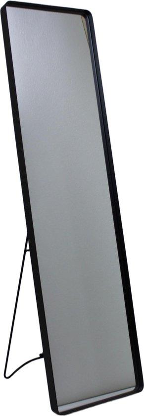 Housevitamin Metalen staande passpiegel-Zwart-30.5x4x150cm