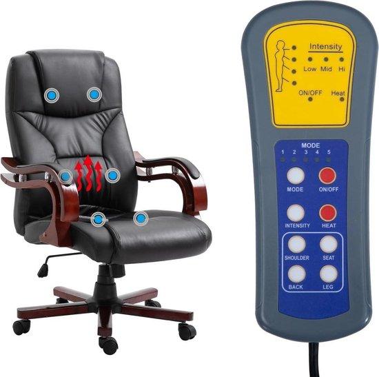Massage kantoorstoel kunstleer zwart Bureaustoelen